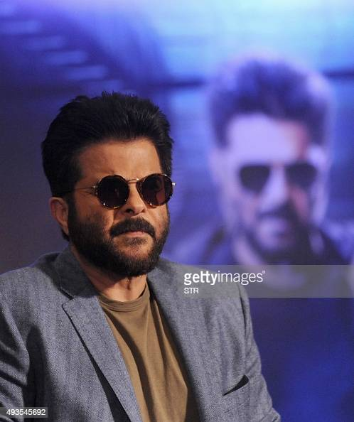 Indian Bollywood actor Anil Kapoor poses during the press meet and poster launch of his Produce Colors Indian Television popular TV show '24' Season...