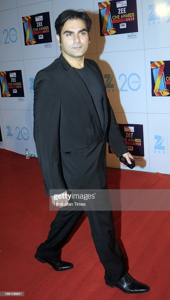 Indian bollywood actor Arbaaz Khan attending Zee Cine Awards 2013 at Yash Raj Studio on January 6, 2013 in Mumbai, India.