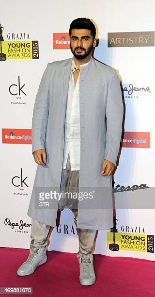 Indian Bollywood actor Arjun Kapoor attends the 'Grazia Young Fashion Awards 2015' ceremony in Mumbai on April 15 2015 AFP PHOTO