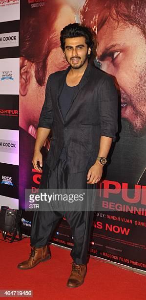 Indian Bollywood actor Arjun Kapoor attends the Success Party of Hindi film 'Badlapur' directed by Sriram Raghavan in Mumbai on February 27 2015 AFP...