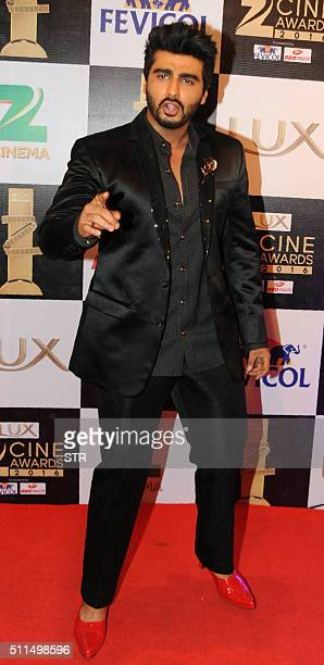 Indian Bollywood actor Arjun Kapoor attends the 'Zee Cine Awards' ceremony in Mumbai on February 20 2016 AFP PHOTO / AFP / STR
