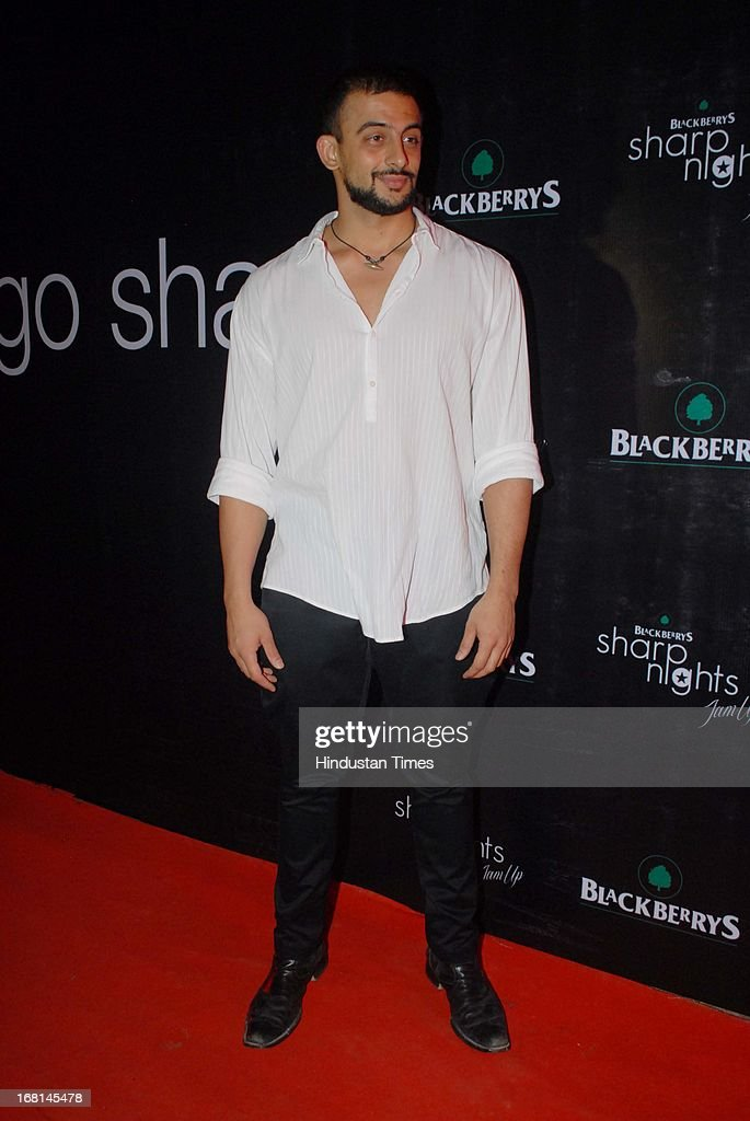 Indian Bollywood actor Arunoday Singh during the Blackberrys Sharp Night Fashion Show at Mehboob studio, Bandra on May 3, 2013 in Mumbai, India. The Blackberrys Sharp Night is a fashion show organised by Blackberrys to showcase their new Summer/Spring collection.