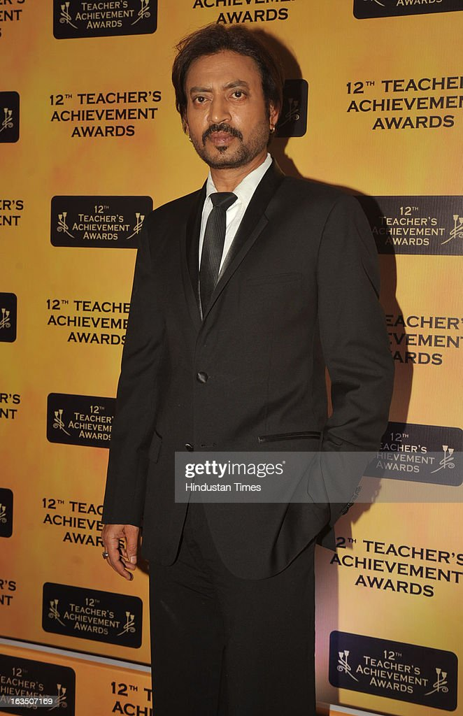 Indian bollywood actor Irrfan Khan during the 12th Teachers Achievement Awards 2013 at the Hotel Taj Lands End, Bandra on March 9, 2013 in Mumbai,India.