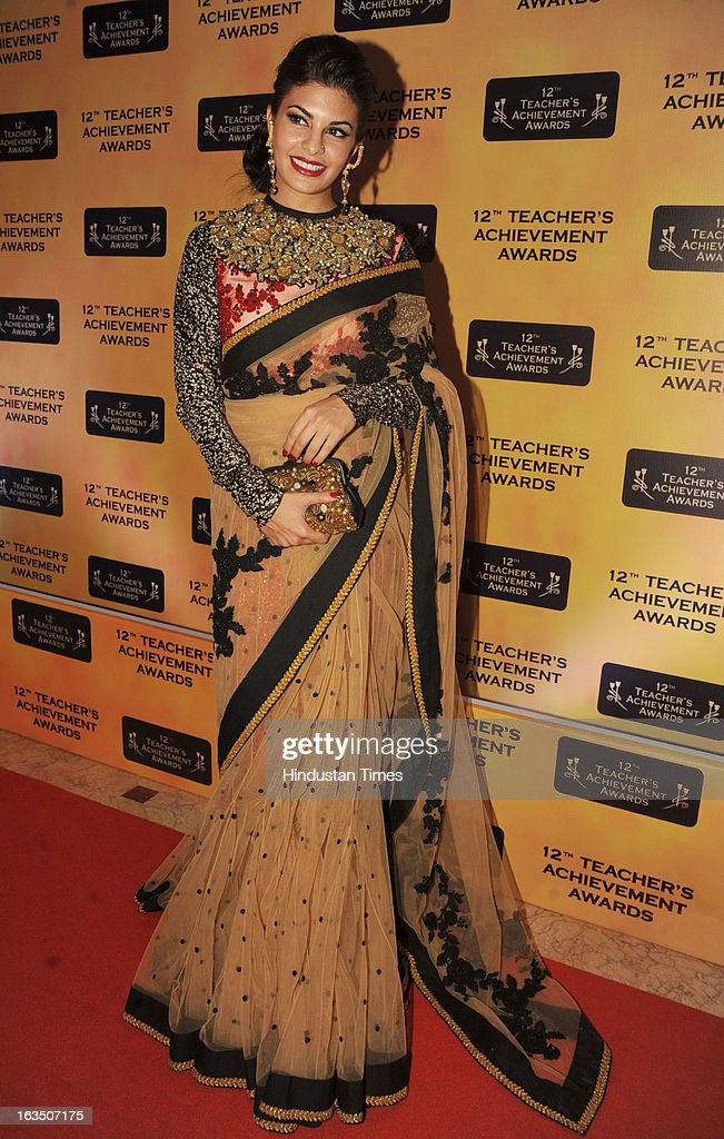 Indian bollywood actor Jacqueline Fernandez during the 12th Teachers Achievement Awards 2013 at the Hotel Taj Lands End, Bandra on March 9, 2013 in Mumbai,India.