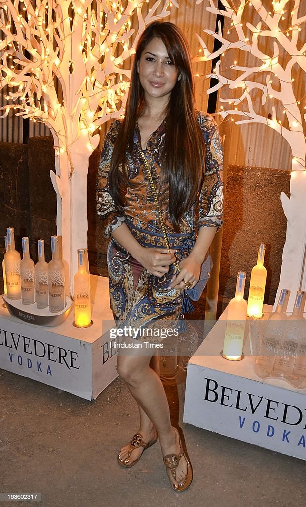 Indian bollywood actor Kim Sharma attending Special preview of Otlo Design project hosted by Belvedere Vodka at Bhavishyavani Backyard, Bandra on March 11, 2013 in Mumbai, India.