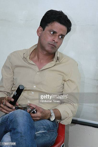 Indian bollywood actor Manoj Bajpai during an exclusive interview for promotion of upcoming movie Satyagraha at HT Media Office on August 26 2013 in...
