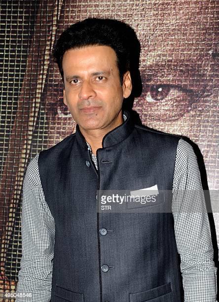 Indian Bollywood actor Manoj Bajpayee attends the special screening of National Award winning director Hansal Mehta's Hindi film 'Aligarh' at 'Jio...