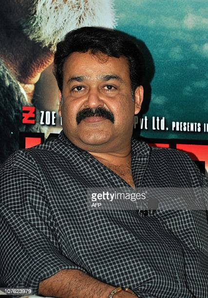 "Indian Bollywood actor Mohanlal Vishwanathan Nair attends the premiere screening for the Indian Malayalamlanguage film ""Kandahar"" directed by Major..."