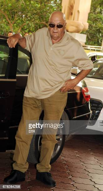 Indian Bollywood actor Prem Chopra arrives to attend a prayer meeting for the late actor and politician Vinod Khanna in Mumbai on May 3 2017 / AFP...