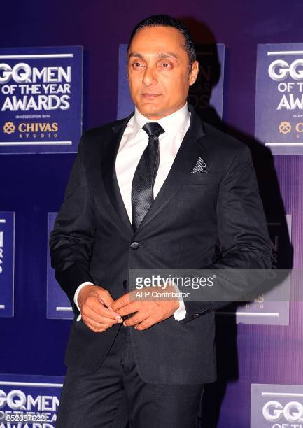 Indian Bollywood actor Rahul Bose attends GQ India's ninth anniversary with the annual Men of the Year Awards 2017 in Mumbai on September 22 2017 /...
