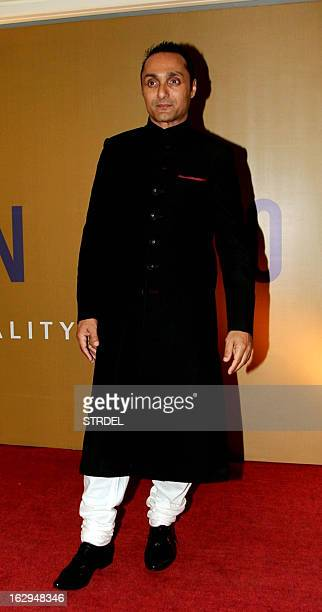 Indian Bollywood actor Rahul Bose attends his NGO fund raiser Equation 2013 in Mumbai on March 1 2013 AFP PHOTO/STR