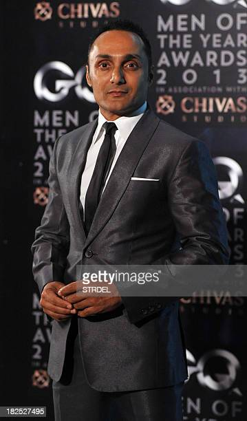 Indian Bollywood actor Rahul Bose poses as he attends the GQ India fifth anniversary 'Men of the Year' Awards ceremony in Mumbai late September 29...