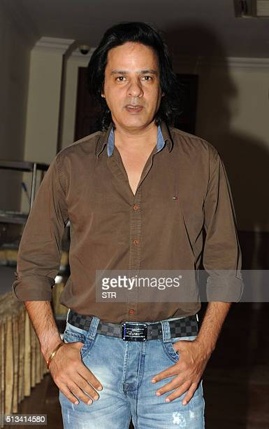 Indian Bollywood actor Rahul Roy attends an event in honour of Bollywood music director and singer Anu Malik at 'The Pride of Industry' awards in...