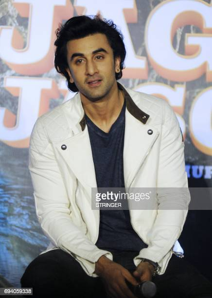 Indian Bollywood actor Ranbir attend the song launch event for their upcoming romantic comedy Hindi film 'Jagga Jasoos written and directed by Anurag...