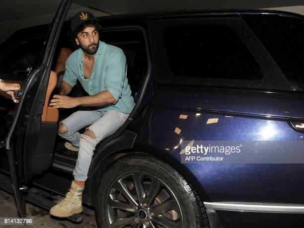Indian Bollywood actor Ranbir Kapoor attends the screening of film 'Jagga Jasoos in Mumbai on July 13 2017 / AFP PHOTO / STR