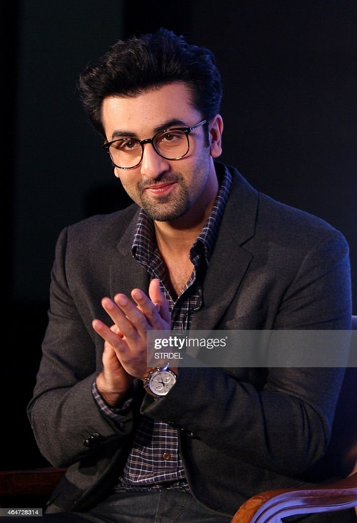 Indian Bollywood actor <a gi-track='captionPersonalityLinkClicked' href=/galleries/search?phrase=Ranbir+Kapoor&family=editorial&specificpeople=4534979 ng-click='$event.stopPropagation()'>Ranbir Kapoor</a> looks on during a promotional event for author Ronnie Screwvala in Mumbai on February 28, 2015.