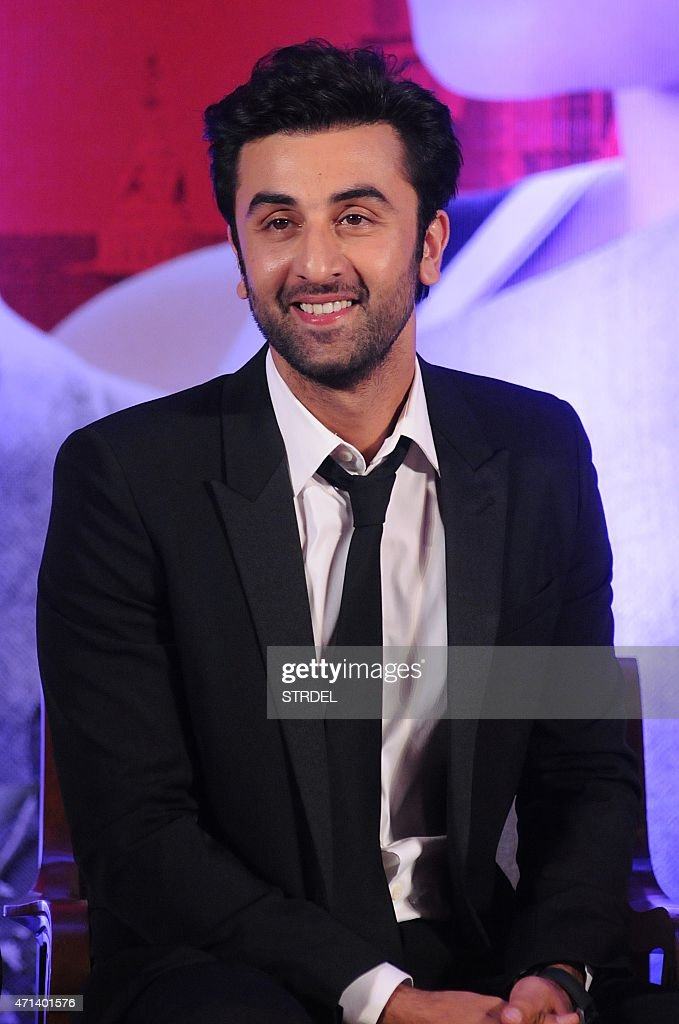 Indian Bollywood actor <a gi-track='captionPersonalityLinkClicked' href=/galleries/search?phrase=Ranbir+Kapoor&family=editorial&specificpeople=4534979 ng-click='$event.stopPropagation()'>Ranbir Kapoor</a> looks on during a promotional event for the forthcoming Hindi film 'Bombay Velvet' directed and co-produced by Anurag Kashyap in Mumbai on late April 27, 2015.