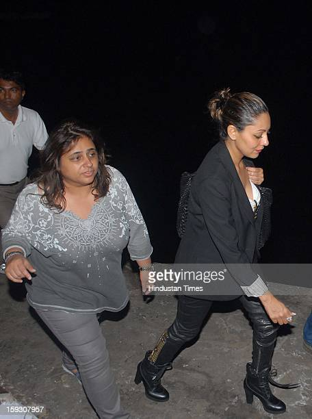 Indian bollywood actor Shahrukh Khan's wife Gauri Khan during the Hrithik Roshan's birthday party on Yacth which is hosted by Hrithik's wife Sussanne...