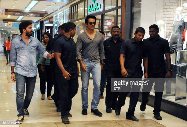 Indian Bollywood actor Sonu Sood takes part in a promotional event for the film Kung Fu Yoga in Mumbai on February 8 2017 / AFP / STR