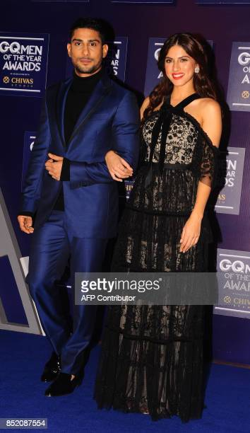Indian Bollywood actors Prateik Babbar and Sapna Pabbi attend GQ India's ninth anniversary with the annual Men of the Year Awards 2017 in Mumbai on...