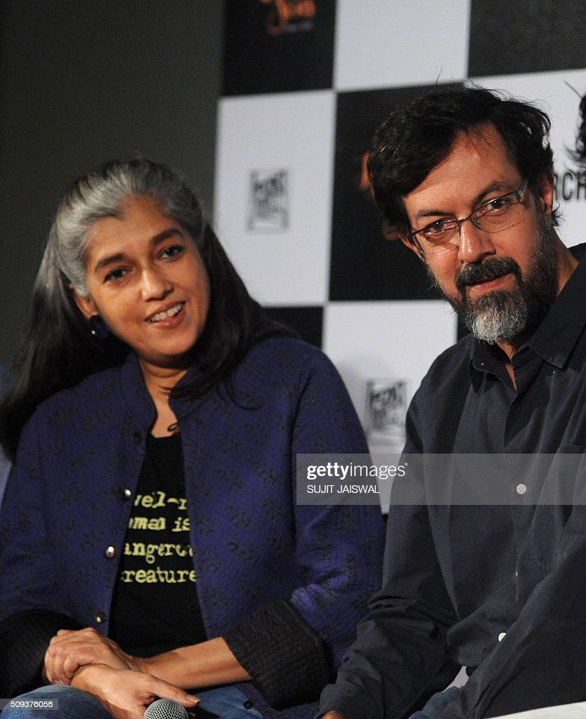 Indian Bollywood actors (L-R) Ratna Pathak and Rajat Kapur attend the trailer launch of upcoming Hindi film 'Kapoor & Sons' in Mumbai on February 10, 2016. AFP PHOTO / Sujit Jaiswal / AFP / SUJIT JAISWAL