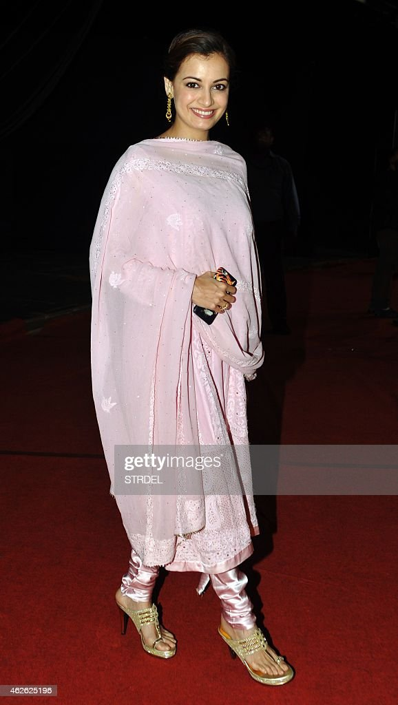 Indian Bollywood actres <a gi-track='captionPersonalityLinkClicked' href=/galleries/search?phrase=Dia+Mirza&family=editorial&specificpeople=696826 ng-click='$event.stopPropagation()'>Dia Mirza</a> attend an event organised by the Rotary Club of Bombay in Mumbai on February 1, 2015.
