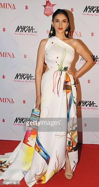 Indian Bollywood actress Aditi Rao Hydari attends the 'Femina Awards' ceremony in Mumbai on February 5 2016 AFP PHOTO / AFP / STR