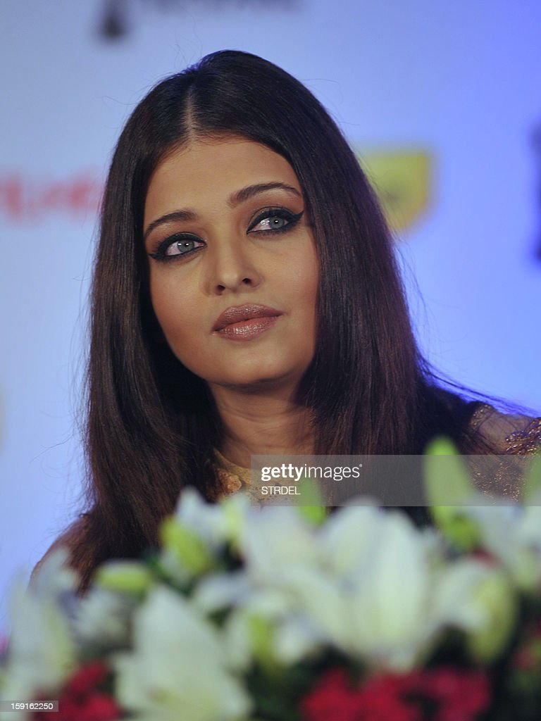 Indian Bollywood actress Aishwarya Rai Bachchan attends a press conference and announcement for the forthcoming 58th Idea Filmfare Awards in Mumbai on January 9, 2013.