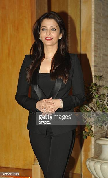 Indian Bollywood actress Aishwarya Rai Bachchan poses for a photograph during a photocall to mark her birthday in Mumbai on November 1 2014 AFP...