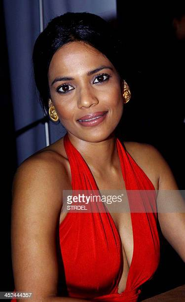 Indian Bollywood actress and competition judge Priyanka Bose poses for a photograph during the KamaSutra Miss Maxim 2014 competition final in Mumbai...