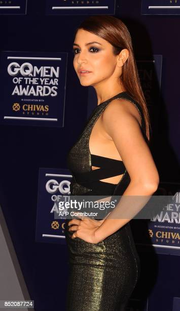 Indian Bollywood actress Anushka Sharma attends GQ India's ninth anniversary with the annual Men of the Year Awards 2017 in Mumbai on September 22...