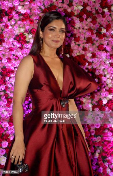 Indian Bollywood actress Bhumi Pednekar poses for a photograph during a promotional event in Mumbai on late December 10 2017 / AFP PHOTO / Sujit...