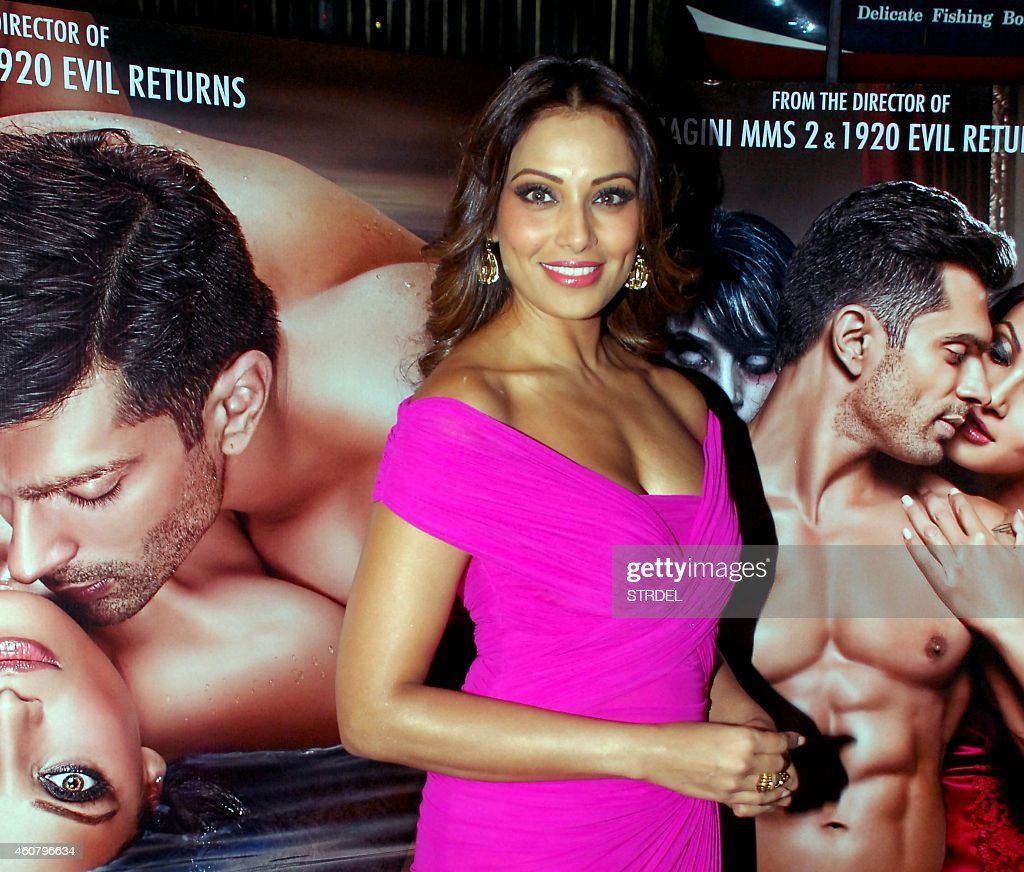Indian Bollywood actress <a gi-track='captionPersonalityLinkClicked' href=/galleries/search?phrase=Bipasha+Basu&family=editorial&specificpeople=695956 ng-click='$event.stopPropagation()'>Bipasha Basu</a> poses during a promotional event for the horror Hindi film 'Alone' in Mumbai on December 22, 2014.