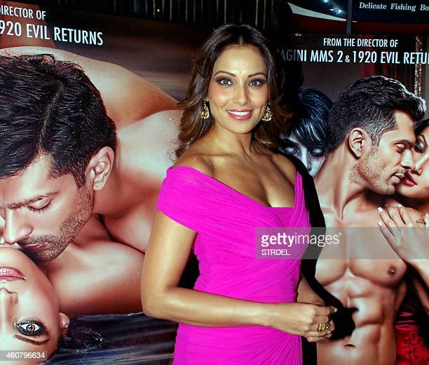 Indian Bollywood actress Bipasha Basu poses during a promotional event for the horror Hindi film 'Alone' in Mumbai on December 22 2014 AFP PHOTO/STR