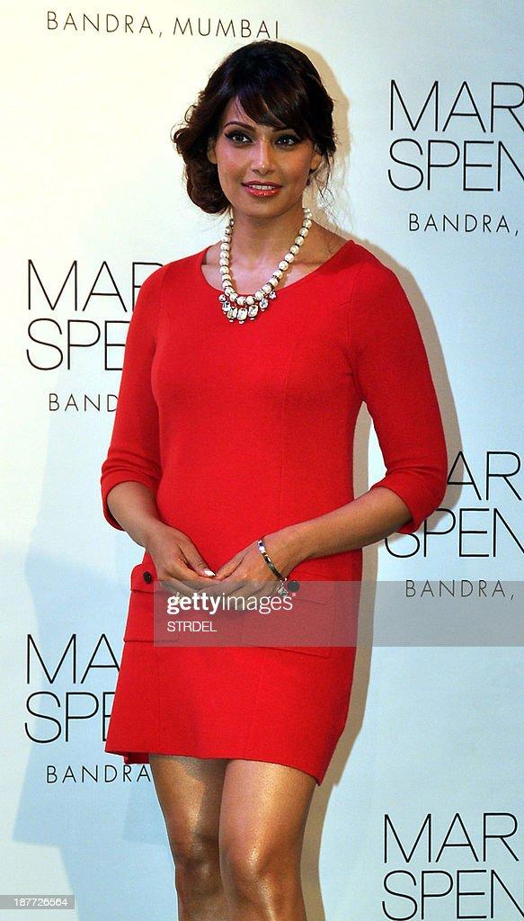 Indian Bollywood actress Bipasha Basu poses during a promotional event in Mumbai on November 11, 2013.