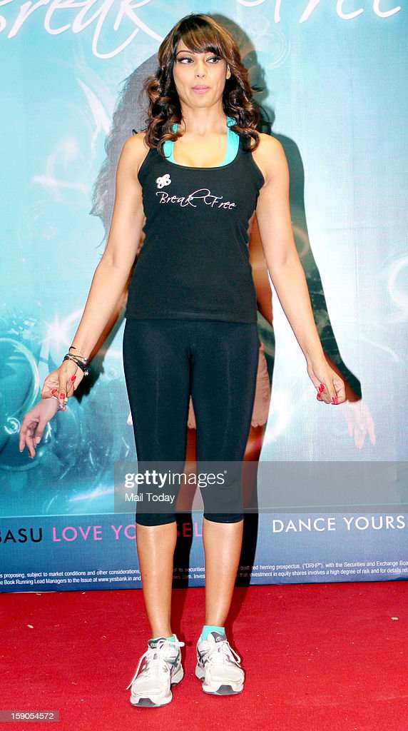 Indian Bollywood actress Bipasha Basu poses during the launch of her fitness DVD Break Free in Mumbai on January 4, 2013.