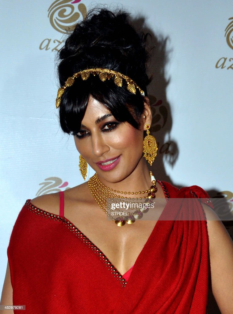 Indian Bollywood actress Chitrangada Singh is photographed at the AZVA show during the Aamby Valley India Bridal Fashion Week 2013 in Mumbai late December 1, 2013.