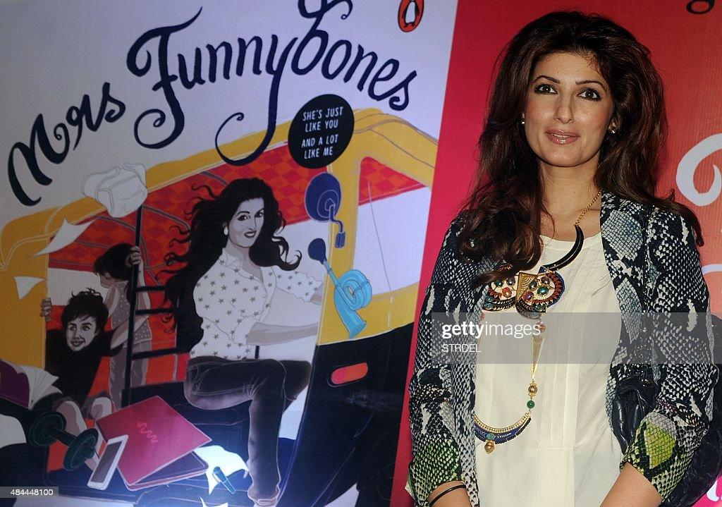 Indian Bollywood Actress Columnist And Interior Designer Twinkle Khanna Poses For A Photograph During The