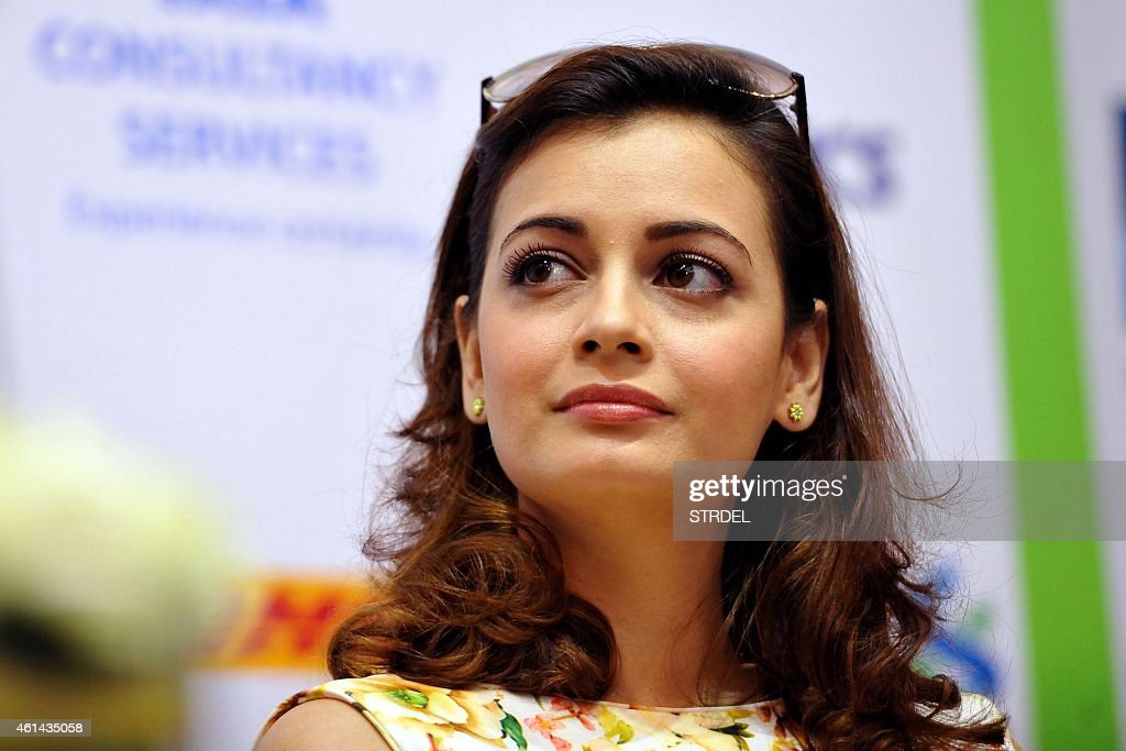 Indian Bollywood actress <a gi-track='captionPersonalityLinkClicked' href=/galleries/search?phrase=Dia+Mirza&family=editorial&specificpeople=696826 ng-click='$event.stopPropagation()'>Dia Mirza</a> attends a press conference for the forthcoming Mumbai Marathon and charity fund in Mumbai on January 12, 2015.