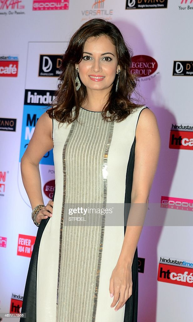 Indian Bollywood actress <a gi-track='captionPersonalityLinkClicked' href=/galleries/search?phrase=Dia+Mirza&family=editorial&specificpeople=696826 ng-click='$event.stopPropagation()'>Dia Mirza</a> poses as she attends the HT Mumbai's Most Stylish Awards 2015 ceremony in Mumbai late March 26, 2015.