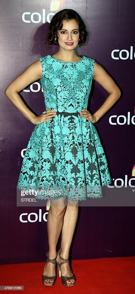 Indian Bollywood actress Dia Mirza poses for a photograph during a promotional event in Mumbai on late April 18, 2015.