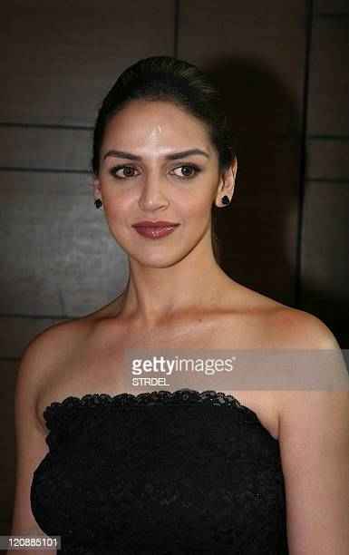 "Indian Bollywood actress Esha Deol poses during a ceremony for the forthcoming Hindi film ""Tell Me O Khuda"" in Mumbai late August 11 2011 AFP..."