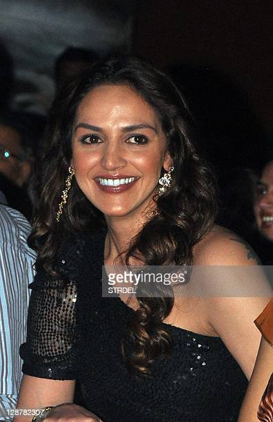 "Indian Bollywood actress Esha Deol poses during a function promoting the forthcoming Hindi film ""Tell Me O Khuda"" in Mumbai late October 7 2011 AFP..."