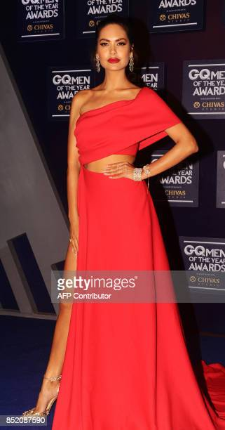 Indian Bollywood actress Esha Gupta attends GQ India's ninth anniversary with the annual Men of the Year Awards 2017 in Mumbai on September 22 2017 /...