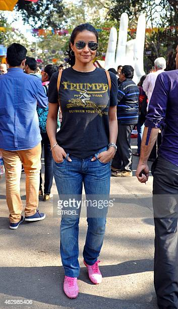 Indian Bollywood actress Gul Panag is pictured at the Kala Ghoda Arts Festival in Mumbai on February 8 2015 AFP PHOTO/STR