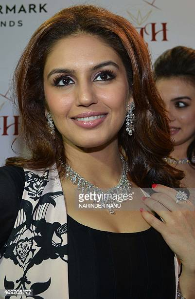 Indian Bollywood actress Huma Qureshi poses for a photograph during a promotional event for a jeweller's in Amritsar on February on 16 2014 AFP...