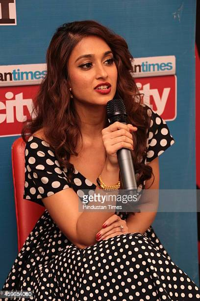 Indian Bollywood actress Ileana DCruz during an exclusive interview for promotion of her upcoming movie Happy Ending at HT House on November 20 2014...
