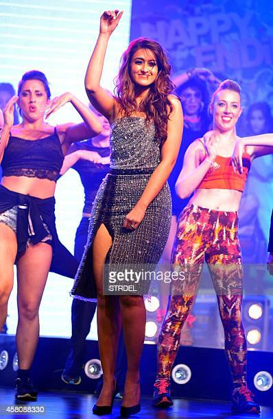 Indian Bollywood actress Ileana D'Cruz performs during the music launch of the upcoming Hindi film Happy Ending in Mumbai on October 29 2014 AFP...