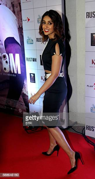 Indian Bollywood actress Ileana D'Cruz poses as she attends the screening of Hindi film Rustom in Mumbai late August 11 2016 / AFP / STR