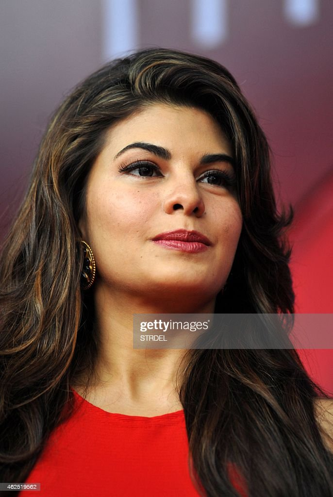 Indian Bollywood actress <a gi-track='captionPersonalityLinkClicked' href=/galleries/search?phrase=Jacqueline+Fernandez&family=editorial&specificpeople=5749256 ng-click='$event.stopPropagation()'>Jacqueline Fernandez</a> poses for a photograph during a promotional event in Mumbai on January 30, 2015. AFP PHOTO / STR
